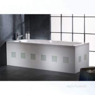 Roper Rhodes Bath Panels -  Quattro Bp1201 Glass 700mm End Panel Wh