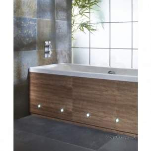 Roper Rhodes Bath Panels -  Porto Front Panel 1700 With Led Walnut