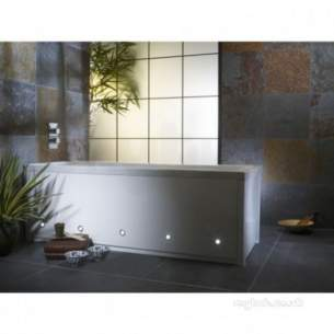 Roper Rhodes Bath Panels -  Porto Front Panel 1700 With Led White