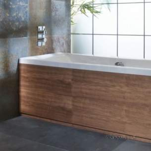 Roper Rhodes Bath Panels -  Uno 700mm End Bath Panel With Plnth Walnt