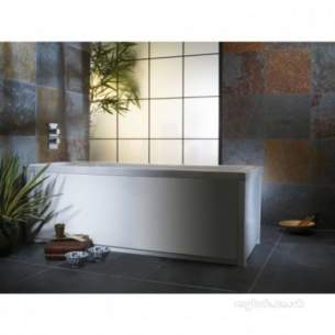 Roper Rhodes Bath Panels -  Uno 700mm End Bath Panel With Plnth Wht