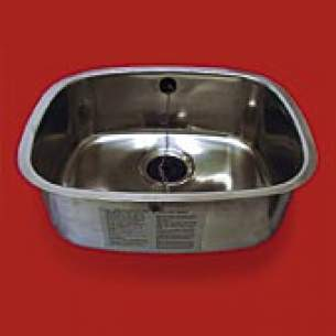 Pland Catering Sinks and Stands -  432x356x180 Lab Inset Self Rimming Bowl