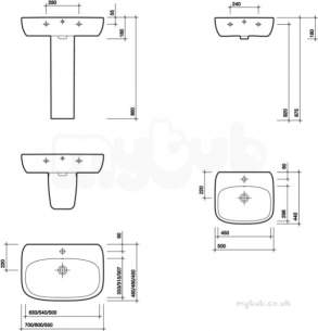 Twyford Moda Sanitaryware -  Moda Washbasin 600x460 With Total Install System 1 Tap Md4331wh
