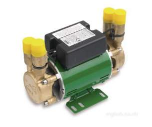 Salamander Shower Pumps -  Force Shower Pump Brass End Twin Water Supply For Positive Head At 2.0 Bar