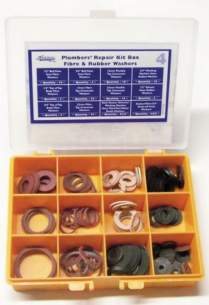 Miscellaneous Cistern Accessories -  New Plumbers Fibre And Rubber Washer Box