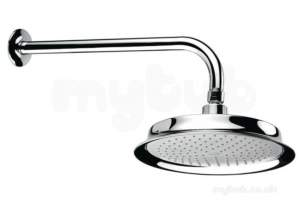 Center Shower Accessories -  Center Brand C04839 Chrome Fixed Shower Head With Shower Arm
