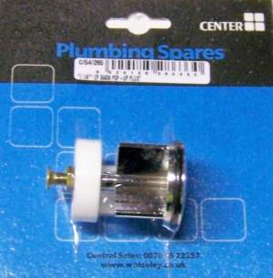 Own Brand Blister Packs -  Center Brand Udc/54/266 Gold Plated Pop Up Basin Waste Plug 1-1/4 Diameter