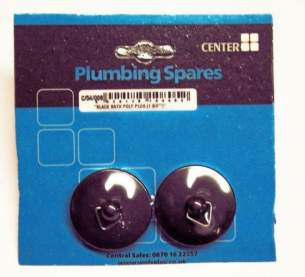 Cb Blister Packs -  Center Brand Udc/54/008 Black Bath Stopper Plug Pair