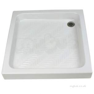 Twyfords Ceramic Shower Trays -  Calypso-2 Shower Tray 800x800x110mm Fc3103wh