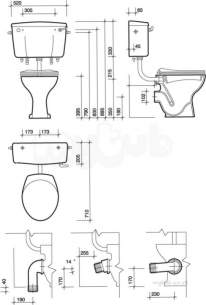 Twyfords Bs Whiteware Products -  Classic Low Level Cistern Bs Cp Lever Cc2641wh