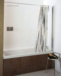Roman Shower Enclosures -  Roman 240-252 Mini Fixed Bath Screen Slv Cc313s
