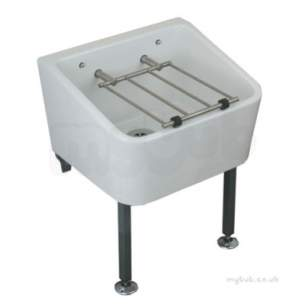 Twyfords Commercial Sanitaryware -  Cleaner Sink 465 X 400 Including Grating Fc1034wh