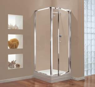 Center 4mm Shower Enclosures -  Center 760mm Pivot Door Chrome/clear Door Only
