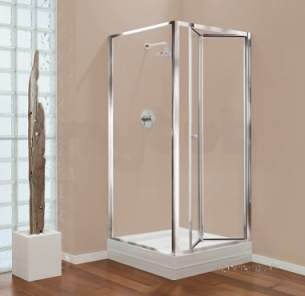 Center 4mm Shower Enclosures -  Center 700mm Gb Bifold Chrome/plain Glass