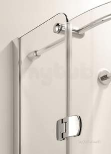 Coram Premier Frameless 8mm -  Coram 900mm Premier Frameless Side Panel Chrome/clear