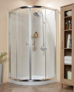 Roman Shower Enclosures -  Roman 1000 X 1000mm Curved Quadrant Wht Cq1013w