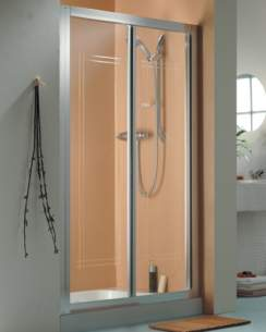 Roman Shower Enclosures -  Roman 1000mm Collage Bi-fold Door Wht