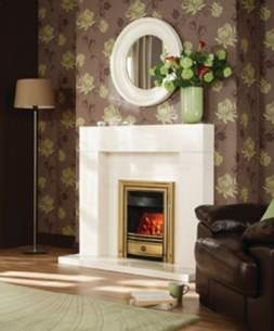 Valor Electric Fires -  Valor Dimension Classica Brass Elec Fre
