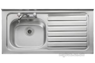 Rangemaster Sinks -  Contract Lc42l 1067x533 Lh Sq/front Ss