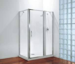 Coram Premier Shower Enclosures -  Premier 1000 Extension Pack Polished Silver
