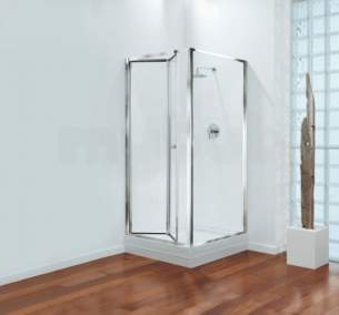 Center 4mm Shower Enclosures -  Center Brand Cbgbbf80cuc Chrome/clear Glass Bifold Shower Door 800mm Wide