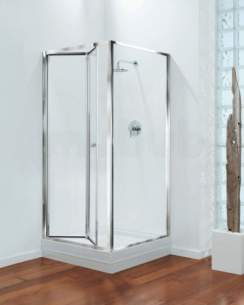 Center 4mm Shower Enclosures -  Center Brand Cbgbbf76cuc Chrome/clear Glass Bifold Shower Door 760mm Wide