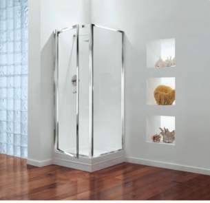 Center 4mm Shower Enclosures -  Center Brand Cbgbsp76cuc Chrome/clear Glass Side Shower Panel 760mm Wide