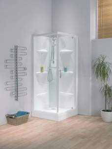 Saniflo Kinedo Shower Cubicles -  Kinedo 800 X 800 Lagune Thermo Crn S/cuble