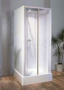 Saniflo Kinedo Shower Cubicles -  Consort Shower Cubicle 710mm X 710mm Wh