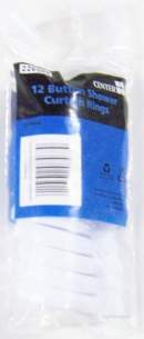 Plumb Center Showertrack and Curtains -  Cb Shower Curtain Rings 12 Pk Wh