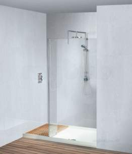 Matki Shower Doors and Panels -  Matki 1796 Rh Walk-in Reces Surrnd Sv/cl