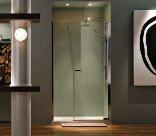 Matki Shower Doors and Panels -  Radiance Nri200 Piv Recess Dr Lh Sil/cl