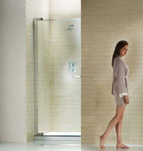 Matki Shower Doors and Panels -  Radiance Nrp9000 Piv Recess Dr Lh Sil/cl