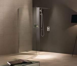 Matki Shower Doors and Panels -  Matki Wet Room Awl900 Walkin Rh Sil/cl