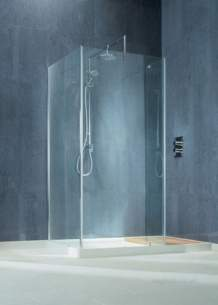 Matki Shower Doors and Panels -  Walk-in Wsc1500 Lh Cornr Surround Sv/cl
