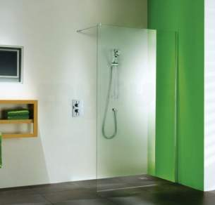 Matki Shower Doors and Panels -  Matki Wet Room Asp850 Glass Panel Sil/cl Asp850