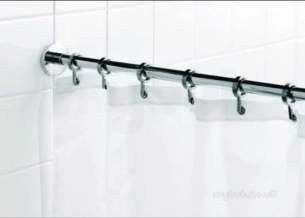 Croydex Shower Curtains and Rails -  Croydex Gp85108 Special Dimension Curtn