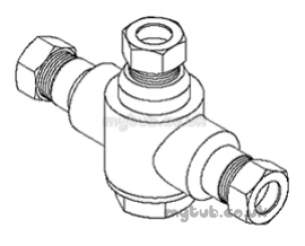 Rada And Meynell Commercial Showers -  Rada 407.07 222-t3-dk 3/4 Inch Bath Mixer Valve