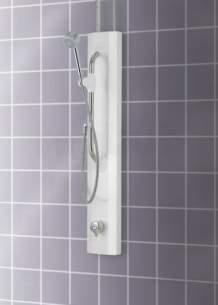 Rada And Meynell Commercial Showers -  Rada V8/3 Therm Shower Pnl And Flex Kit Wh