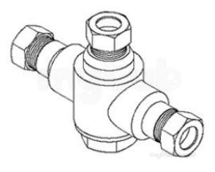 Rada And Meynell Commercial Showers -  Rada 407.06 215-t3-dk Basin Mixer Valve 0.5 Inch