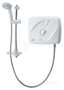 Triton Electric Showers -  Triton T90xr Pumped Shower 9.5 Kw White Chrome Plated
