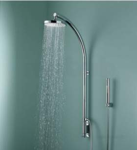 Bristan Showering -  Prism Inline Vertical Shower Pole With Pm Vshxspdiv C