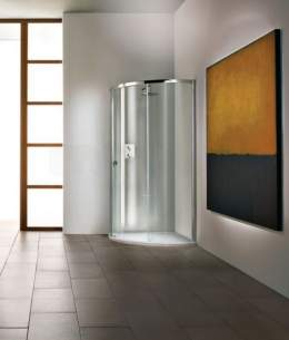 Matki Shower Doors and Panels -  New Radiance Curved 1000mm Lh Sil Cl C/w