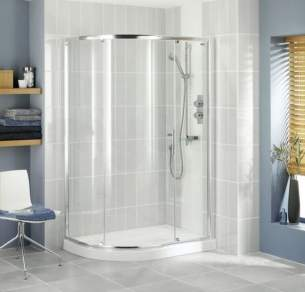 Showerlux Glide Enclosures -  S/l Glide 1200 X 900 Single Dr Offset Rnd Sv