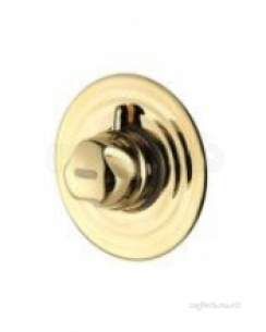 Aqualisa Showers -  Aqualisa Aquavalve 700.50 Semi-recessed Valve Gold Plated
