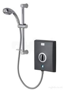 Aqualisa Electric Showers -  Aqualisa Quartz Electric 8.5kw Graphite /chrome Plated