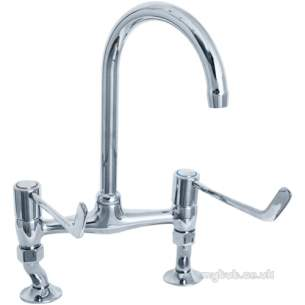 Deva Brassware -  Deva 6 Single Lever Bridge Sink Mixer Cp