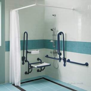Doc M Pack -  Twyford Doc.m Shower Pack Blue Pk7005be