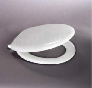 Carrara and Matta Toilet Seats -  Thermoset Inox Seat And Cover Ss Hinges Wh