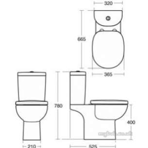 Ideal Standard Sottini Ware -  Ideal Standard New Oracle Cistern Bsio White 6/4l Dfv
